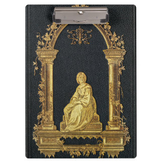 Pranchetas Mulher de Falln na capa do livro do ouro