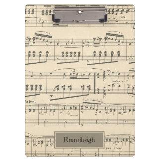 Pranchetas Música personalizada da antiguidade do vintage