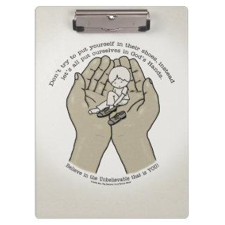 Pranchetas Nas mãos do deus