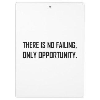 Pranchetas Nenhuma divisa da oportunidade do Failing somente
