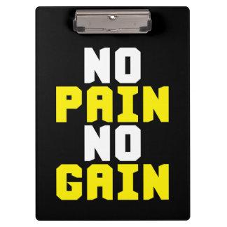 Pranchetas Nenhuma dor, nenhum ganho - exercício do Gym
