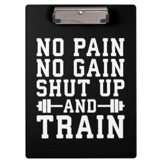 Pranchetas Nenhuma dor nenhum ganho, fechou acima e treinou -