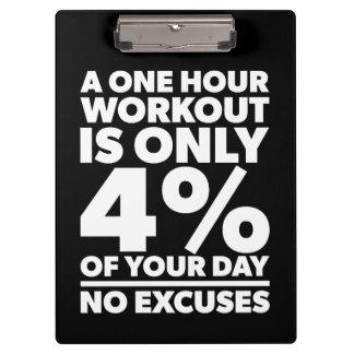 Pranchetas Nenhumas desculpas - esse nosso exercício é 4% de
