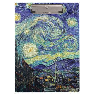 Pranchetas Noite estrelado de Van Gogh