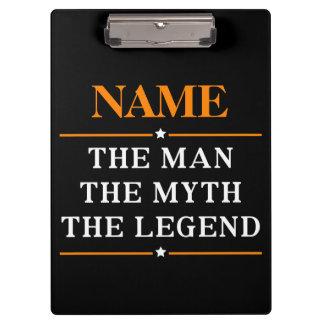 Pranchetas Nome personalizado o homem o mito a legenda
