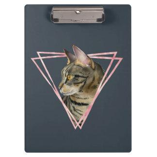 Pranchetas O gato de gato malhado com falso cora quadro