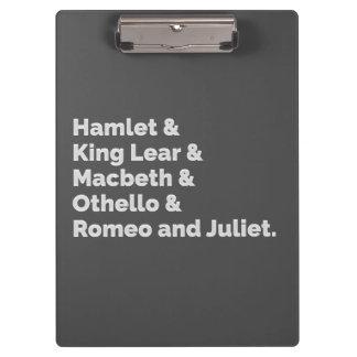 Pranchetas O Shakespeare joga I
