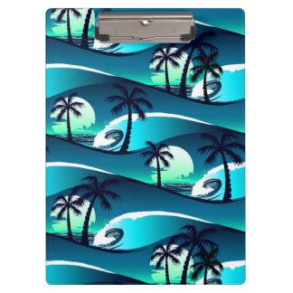 Pranchetas Ondas e palmeiras