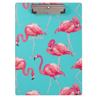 Pranchetas Pássaros cor-de-rosa do flamingo no fundo de