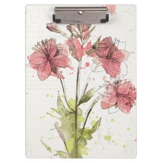 Pranchetas Respingo cor-de-rosa escuro floral