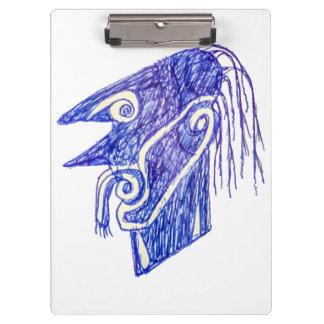 Pranchetas Retrato Ilustration do monstro do desenhar da mão