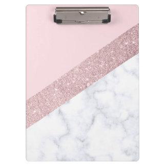 Pranchetas rosa de mármore branco do brilho cor-de-rosa