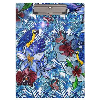 Pranchetas Selva do azul Aloha & flores exóticas tropicais de