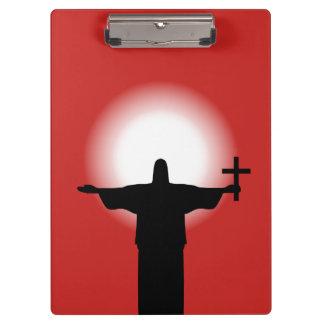 Pranchetas Silhueta com uma cruz