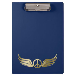 Pranchetas Símbolo de paz do olhar do metal com asas