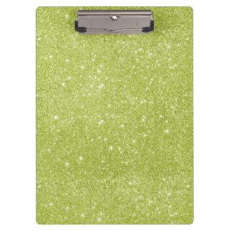 Pranchetas Sparkles do brilho do verde limão