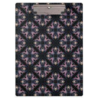 Pranchetas Teste padrão abstrato do rosa e do azul no preto