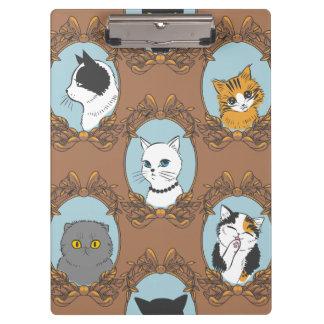 Pranchetas Teste padrão bonito dos gatos