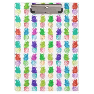 Pranchetas Teste padrão colorido do abacaxi da pintura do pop