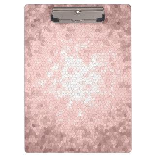 Pranchetas teste padrão cor-de-rosa feminino sofisticado