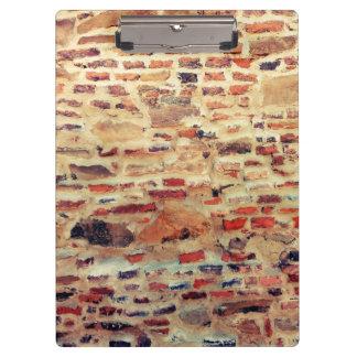 Pranchetas Teste padrão da parede de tijolo