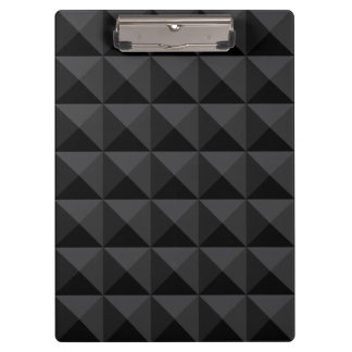 Pranchetas Teste padrão geométrico moderno do quadrado preto