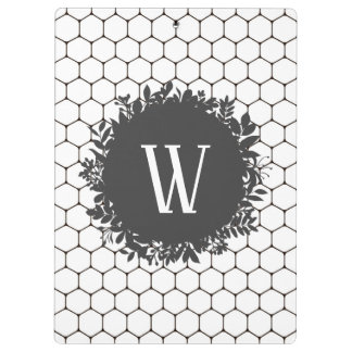 Pranchetas Teste padrão preto e branco da colmeia com