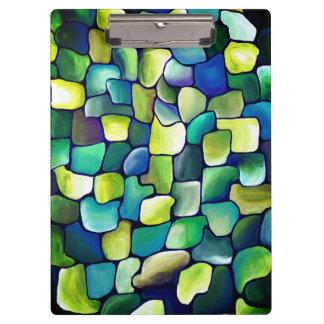 Pranchetas Teste padrão verde contemporâneo