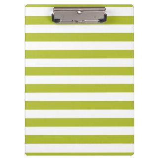 Pranchetas Teste padrão verde e branco da listra