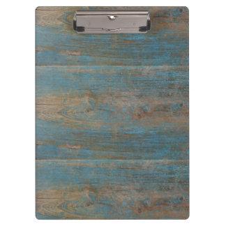 Pranchetas Textura azul da madeira da praia do falso
