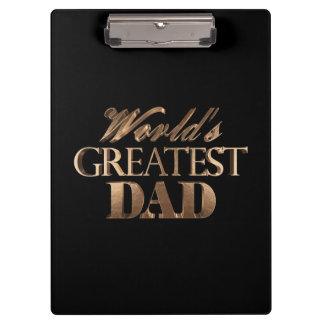 Pranchetas Tipografia preta elegante do ouro do grande pai do