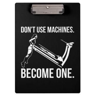 Pranchetas Torna-se uma máquina, escada rolante de
