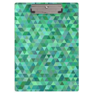 Pranchetas Triângulos verdes Pastel