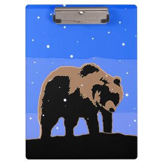 Pranchetas Urso de urso no inverno - arte original dos