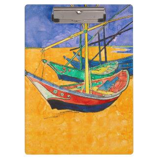 Pranchetas Van Gogh que pinta barcos famosos