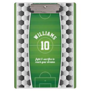 490371aa52 Pranchetas Verde do esporte da bola do campo de futebol do
