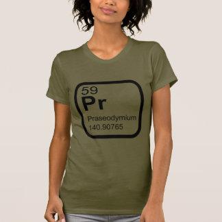 Praseodymium - design da ciência da mesa periódica camiseta