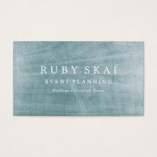 Prata azul cartão de visita arquitectónico