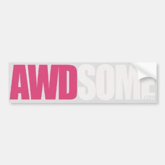 prata cor-de-rosa adesivo para carro