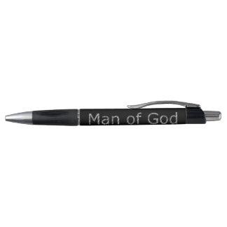 Prata cristã M.O.G. do guerreiro (homem do deus) Caneta