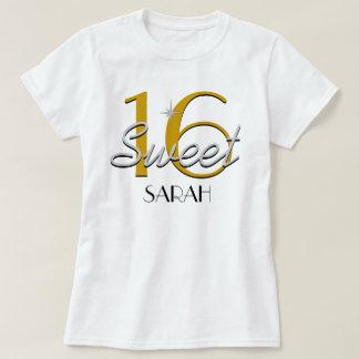 Prata do doce 16/faísca do ouro camiseta