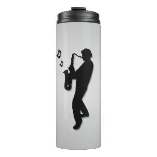 Prata do jogador de saxofone