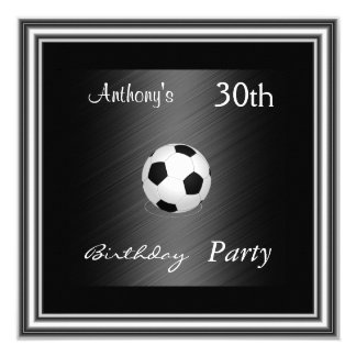 Prata do partido de aniversário de 30 anos do convite quadrado 13.35 x 13.35cm