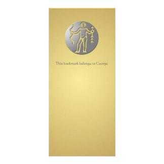 Prata do prêmio do sinal da estrela do zodíaco do 10.16 x 22.86cm panfleto