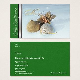 Prata do verde do certificado do cartão de