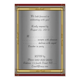 Prata do vermelho do convite de Mitzvah do bar