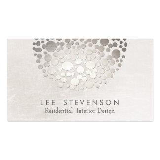Prata e cinzas à moda modernas do designer de cartão de visita