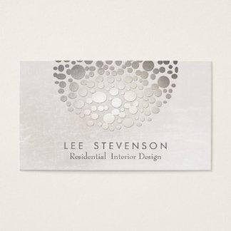 Prata e cinzas à moda modernas do designer de cartão de visitas