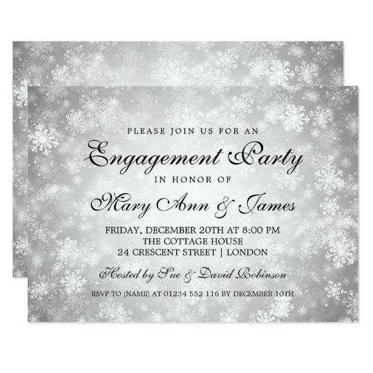 Prata elegante do país das maravilhas do inverno convite 12.7 x 17.78cm