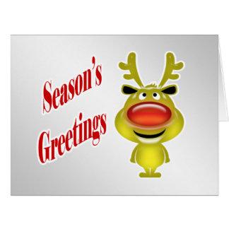 Prata engraçada da rena dos cartões de natal do